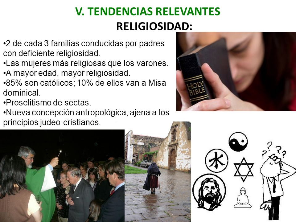 V. TENDENCIAS RELEVANTES