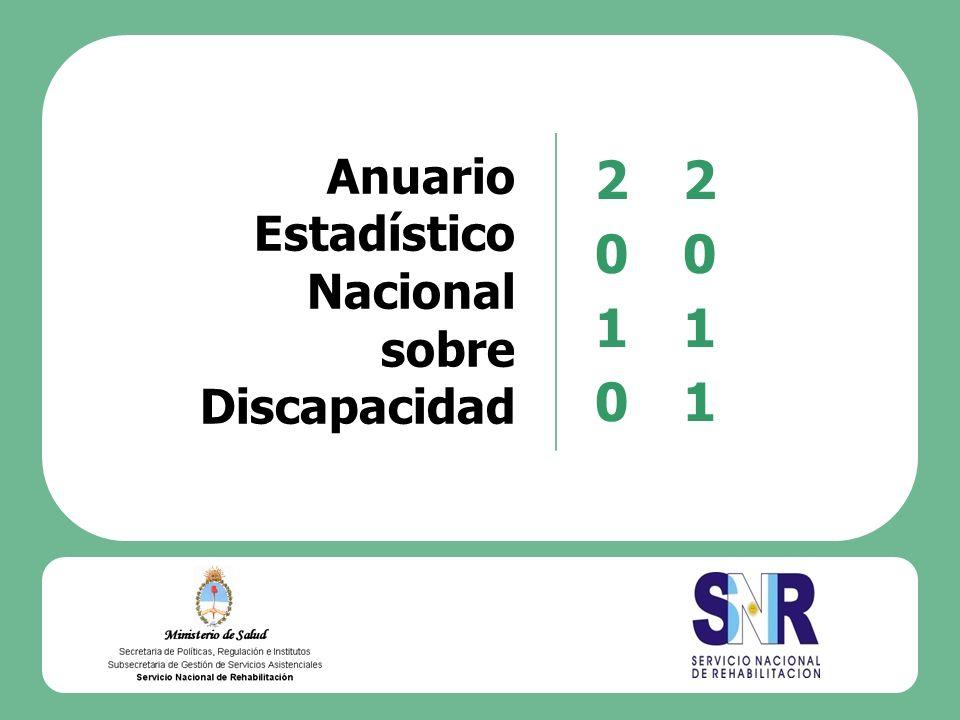 2010 2011 Anuario Estadístico Nacional sobre Discapacidad