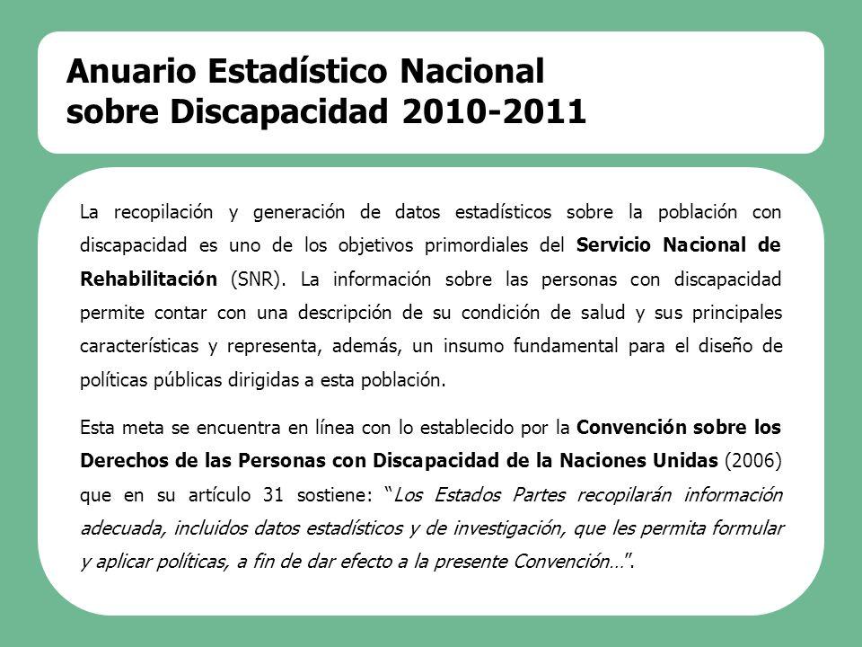 Anuario Estadístico Nacional sobre Discapacidad 2010-2011