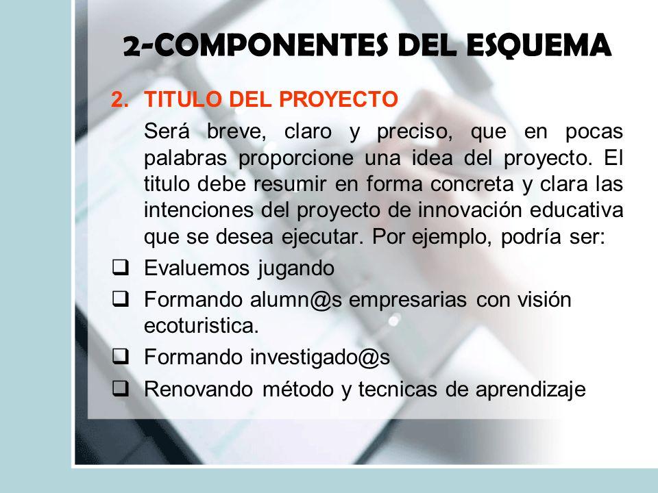 2-COMPONENTES DEL ESQUEMA