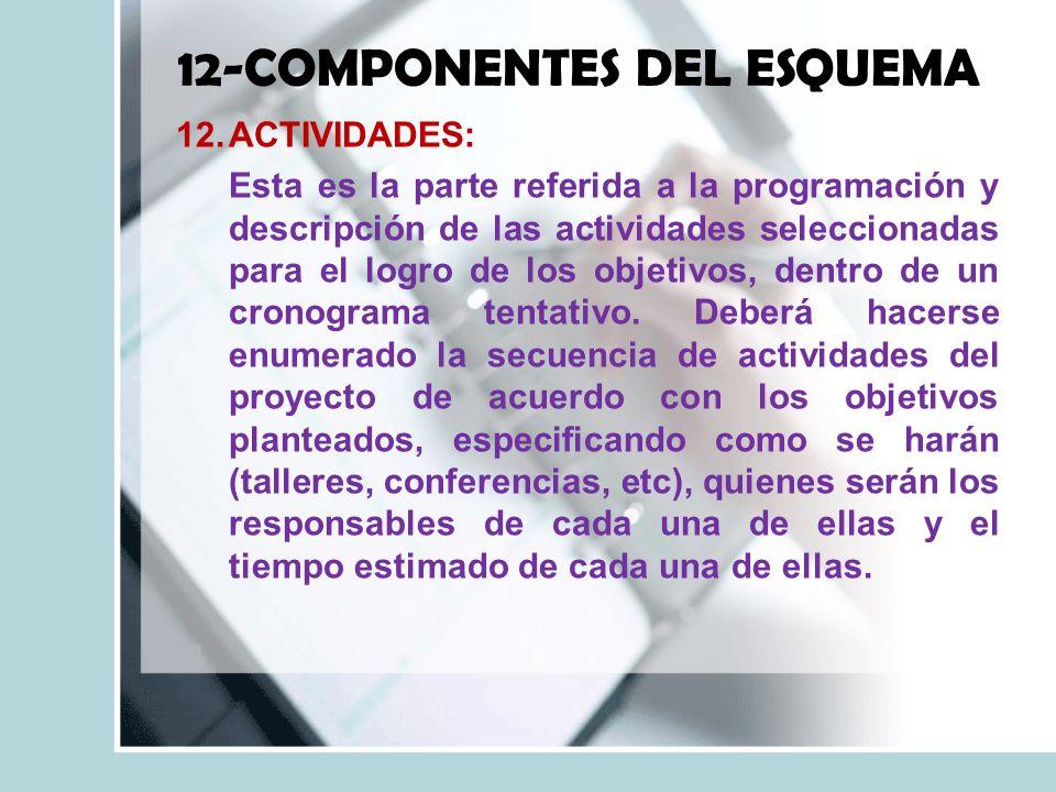 12-COMPONENTES DEL ESQUEMA