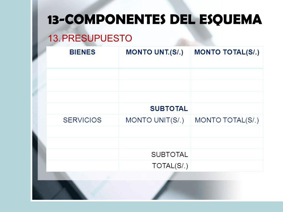 13-COMPONENTES DEL ESQUEMA