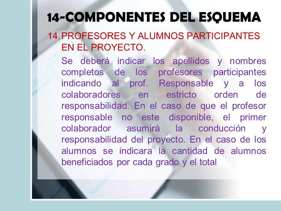 14-COMPONENTES DEL ESQUEMA
