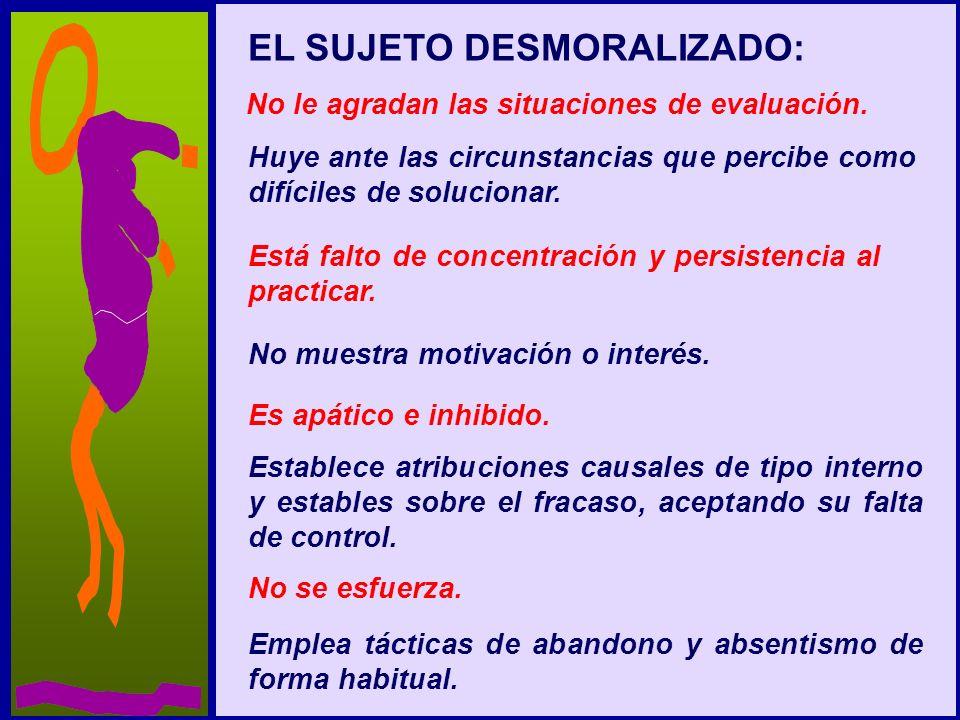 EL SUJETO DESMORALIZADO: