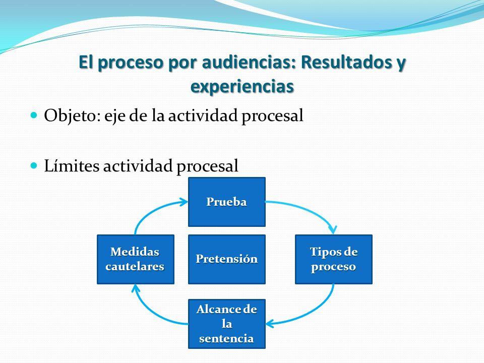 El proceso por audiencias: Resultados y experiencias