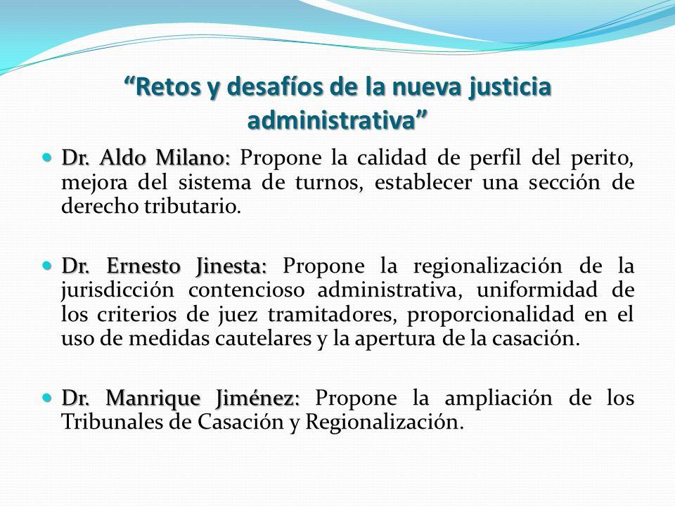 Retos y desafíos de la nueva justicia administrativa