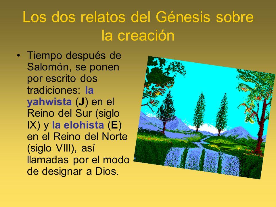 Los dos relatos del Génesis sobre la creación
