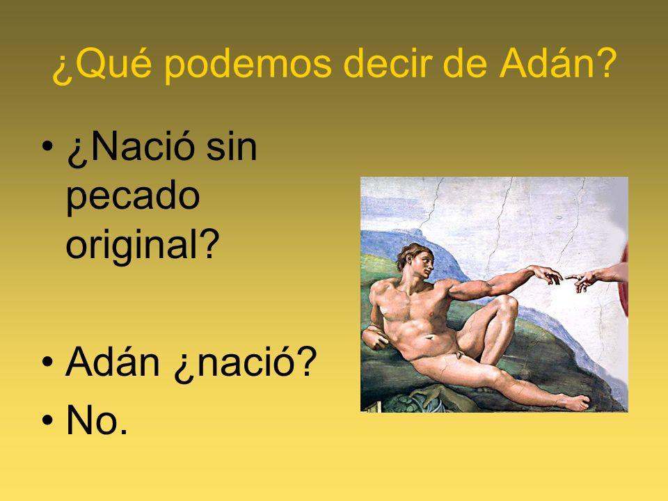 ¿Qué podemos decir de Adán