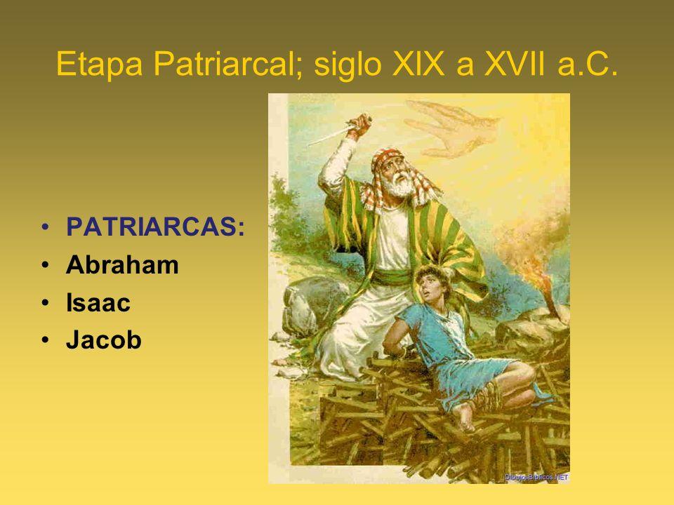 Etapa Patriarcal; siglo XIX a XVII a.C.