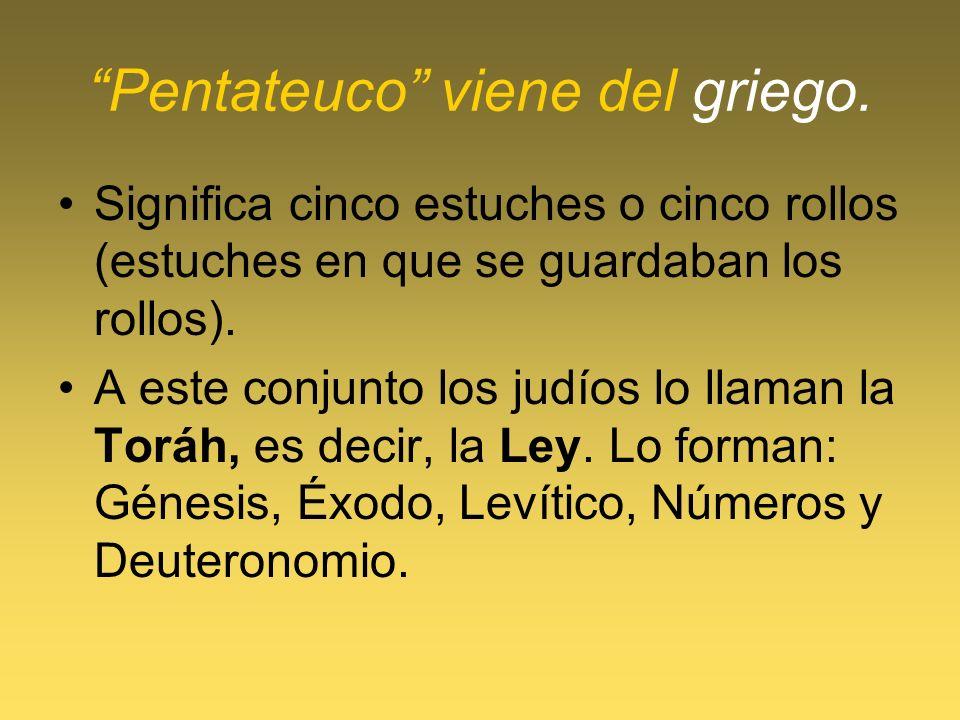 Pentateuco viene del griego.