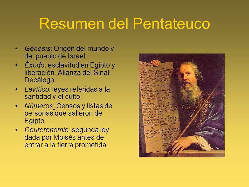 Resumen del Pentateuco