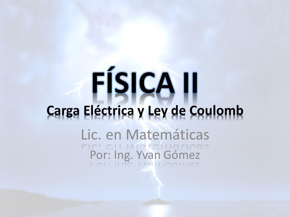 FÍSICA II Carga Eléctrica y Ley de Coulomb