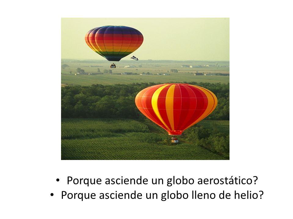 Porque asciende un globo aerostático