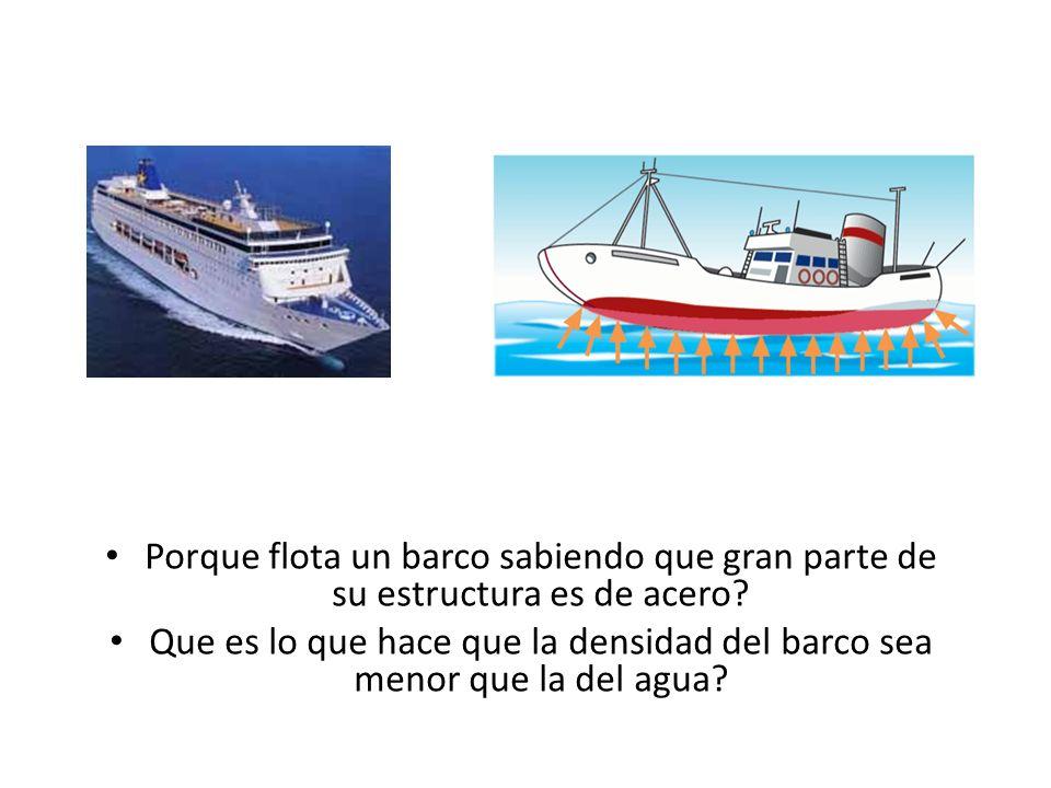 Porque flota un barco sabiendo que gran parte de su estructura es de acero