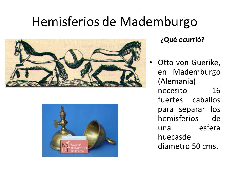 Hemisferios de Mademburgo