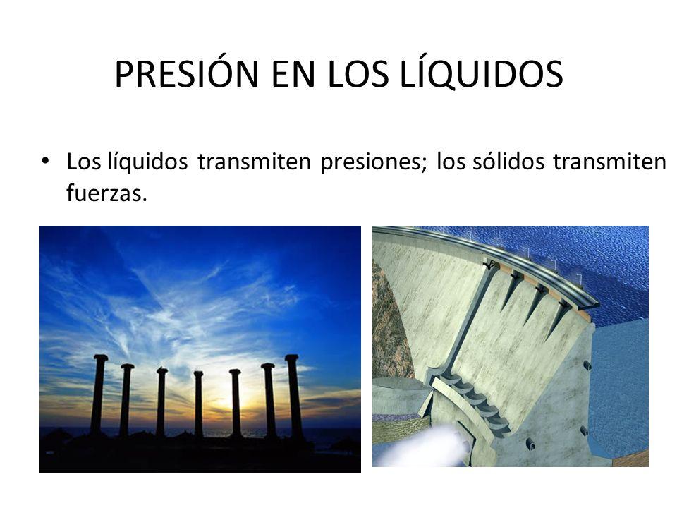 PRESIÓN EN LOS LÍQUIDOS