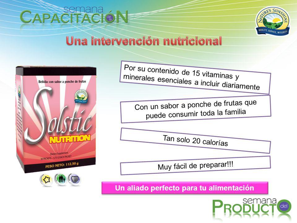 Una intervención nutricional Un aliado perfecto para tu alimentación