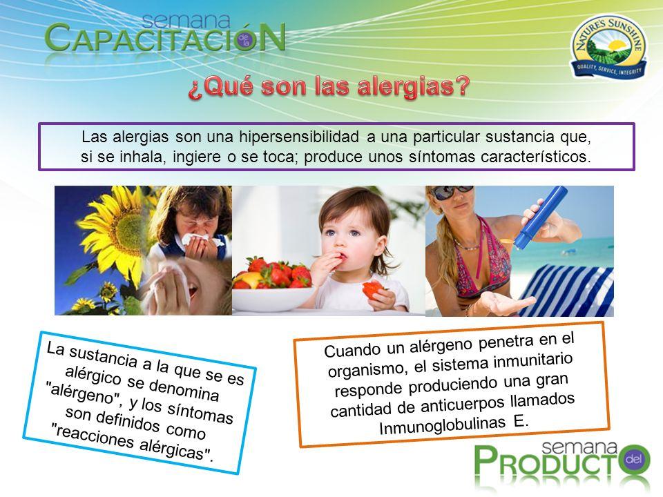 Las alergias son una hipersensibilidad a una particular sustancia que,