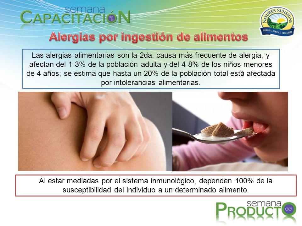 Alergias por ingestión de alimentos