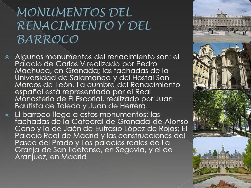 MONUMENTOS DEL RENACIMIENTO Y DEL BARROCO