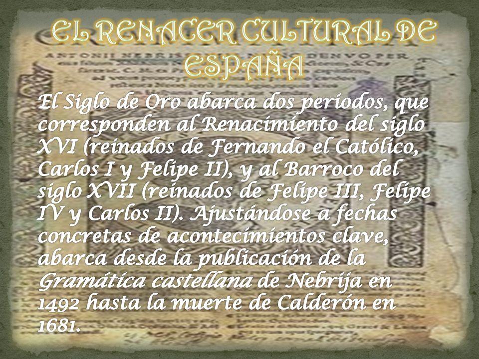 EL RENACER CULTURAL DE ESPAÑA
