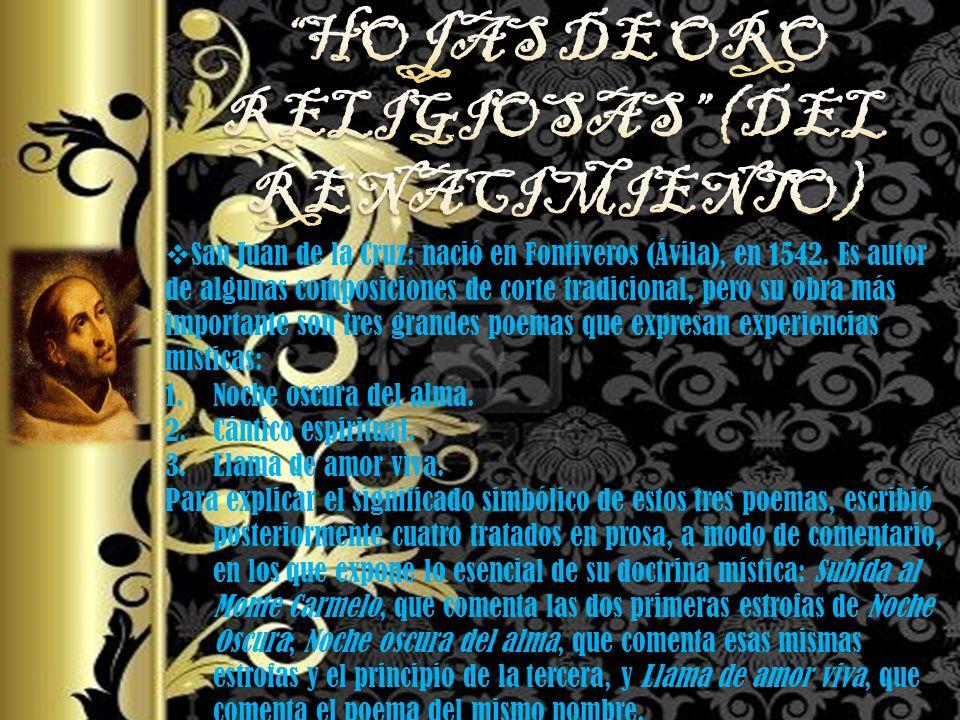 HOJAS DE ORO RELIGIOSAS (DEL RENACIMIENTO)
