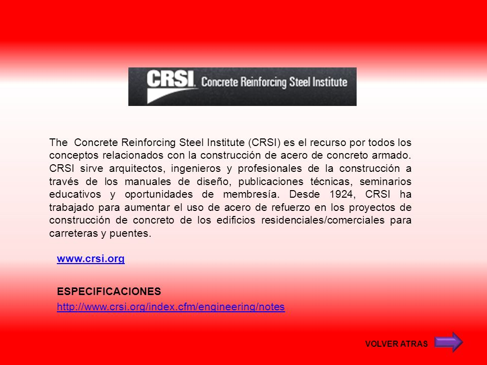 ESPECIFICACIONES http://www.crsi.org/index.cfm/engineering/notes