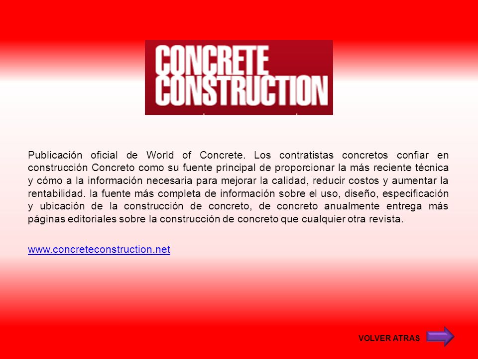 Publicación oficial de World of Concrete