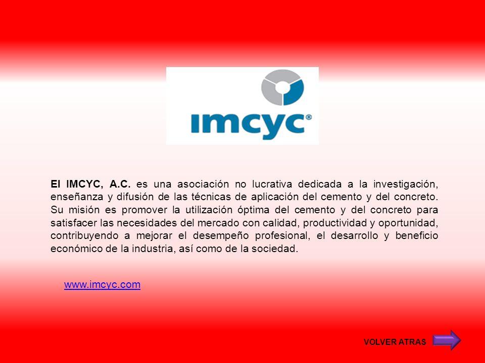 El IMCYC, A.C. es una asociación no lucrativa dedicada a la investigación, enseñanza y difusión de las técnicas de aplicación del cemento y del concreto. Su misión es promover la utilización óptima del cemento y del concreto para satisfacer las necesidades del mercado con calidad, productividad y oportunidad, contribuyendo a mejorar el desempeño profesional, el desarrollo y beneficio económico de la industria, así como de la sociedad.