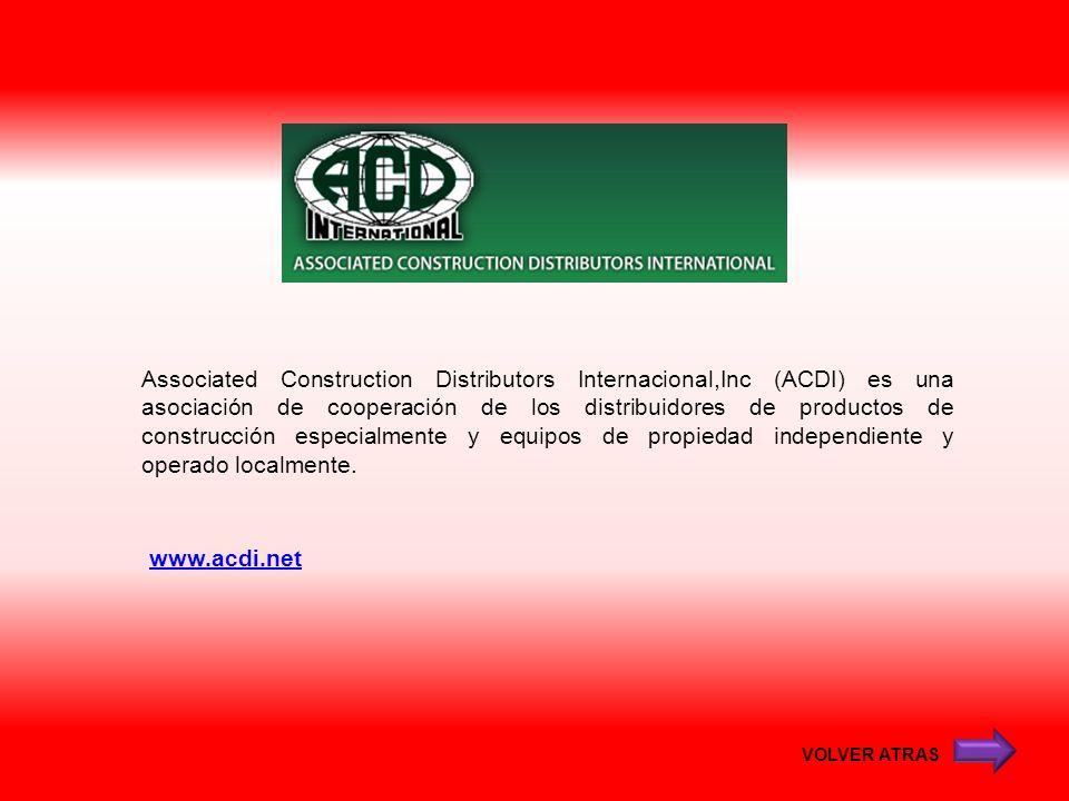 Associated Construction Distributors Internacional,Inc (ACDI) es una asociación de cooperación de los distribuidores de productos de construcción especialmente y equipos de propiedad independiente y operado localmente.