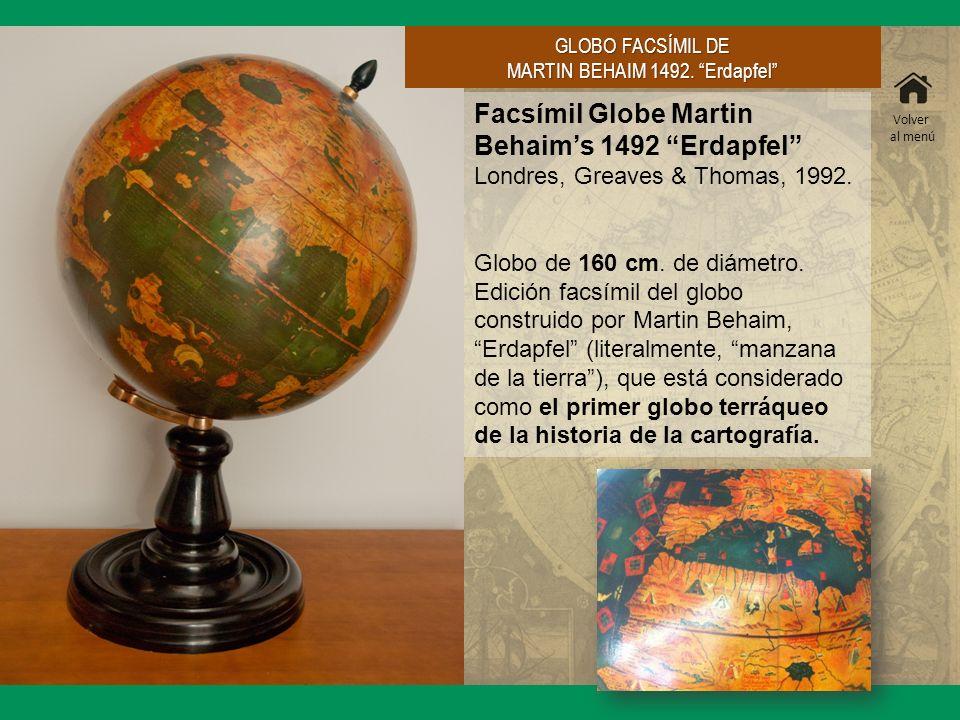 MARTIN BEHAIM 1492. Erdapfel