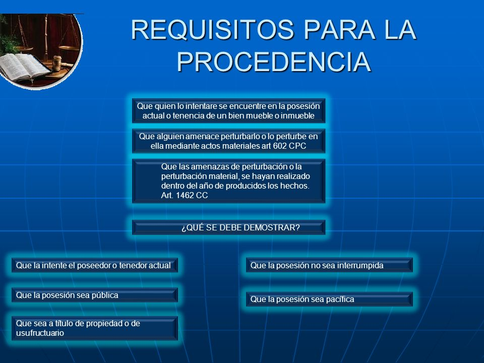REQUISITOS PARA LA PROCEDENCIA