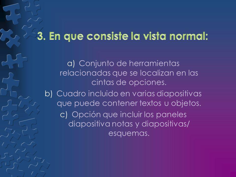 3. En que consiste la vista normal: