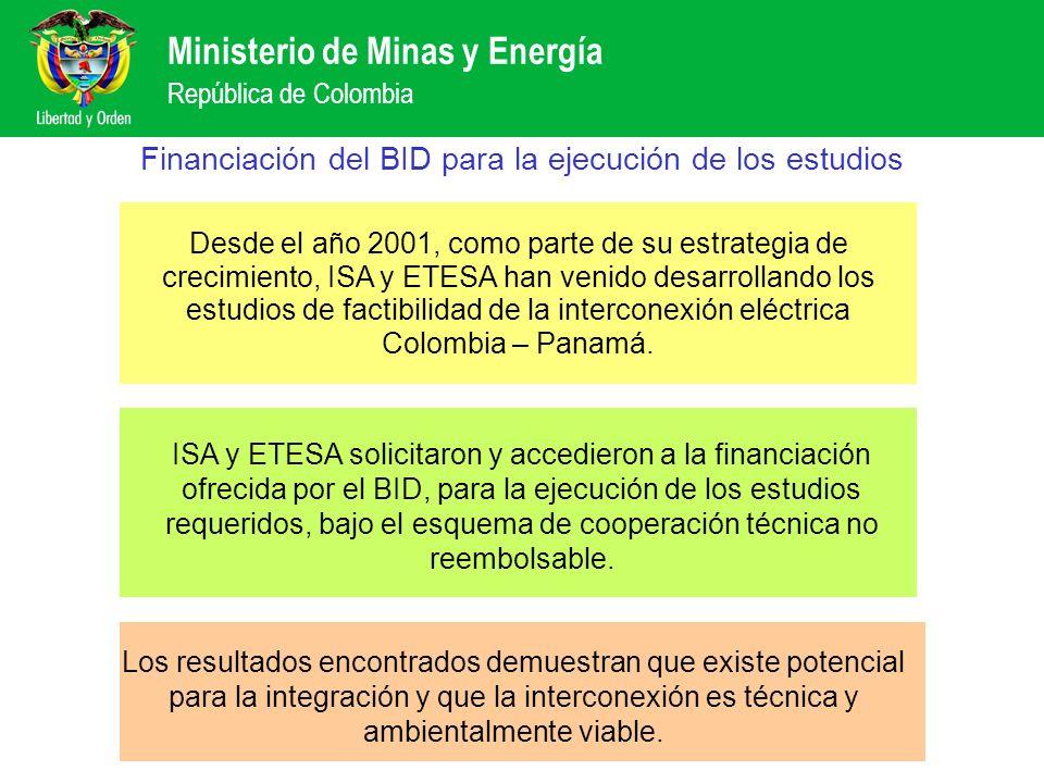 Financiación del BID para la ejecución de los estudios
