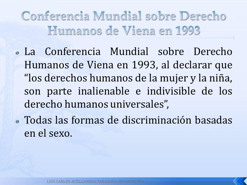 Conferencia Mundial sobre Derecho Humanos de Viena en 1993