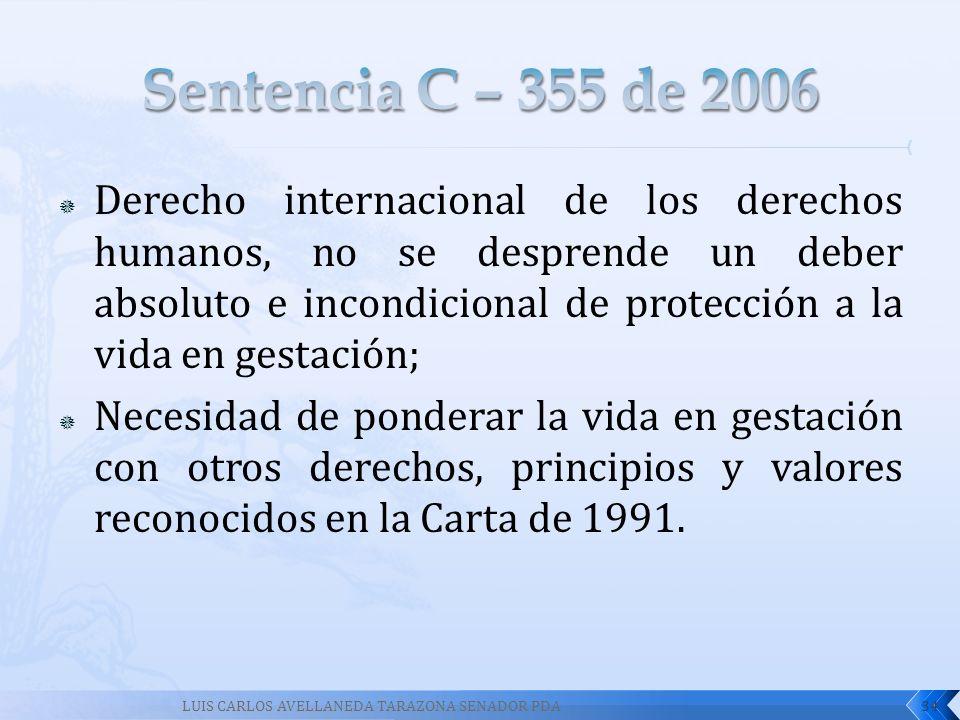 Sentencia C – 355 de 2006