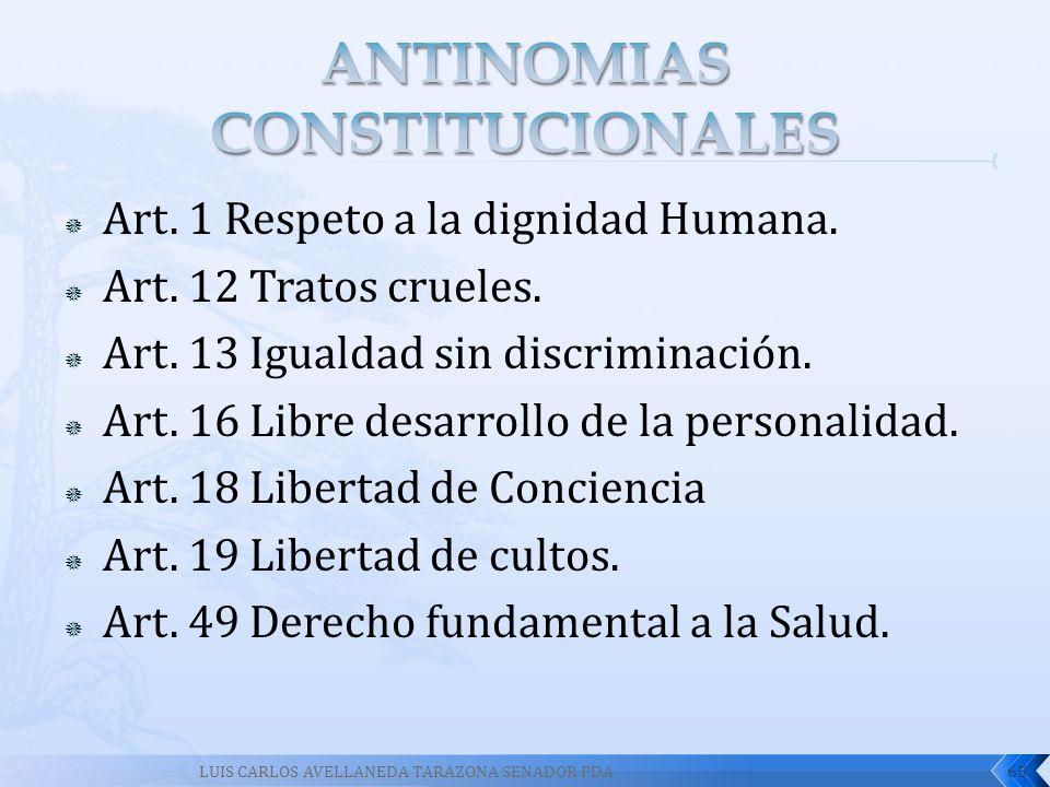 ANTINOMIAS CONSTITUCIONALES
