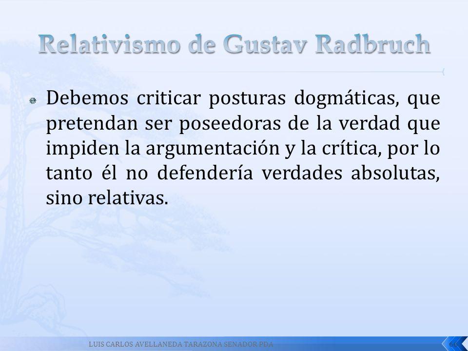 Relativismo de Gustav Radbruch