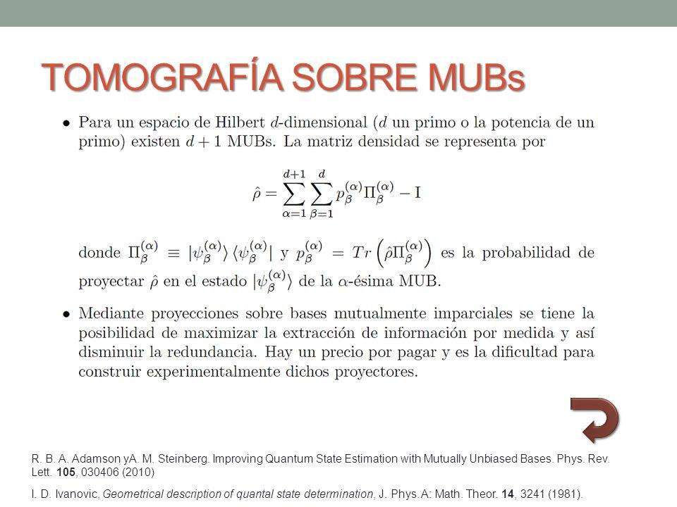 TOMOGRAFÍA SOBRE MUBs