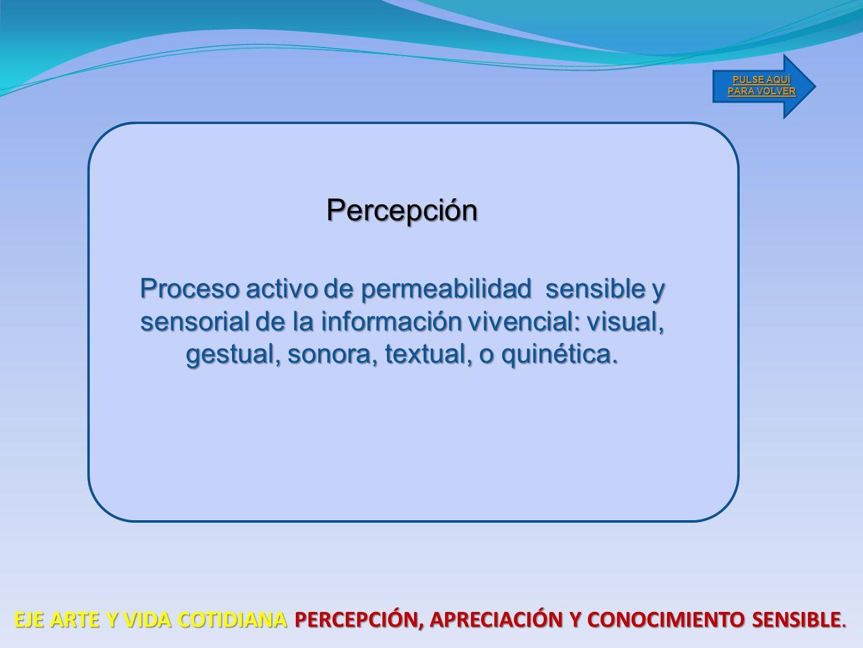 PULSE AQUÍ PARA VOLVER Percepción.