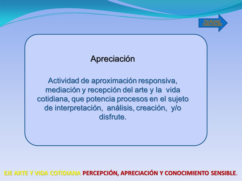PULSE AQUÍ PARA VOLVER Apreciación.