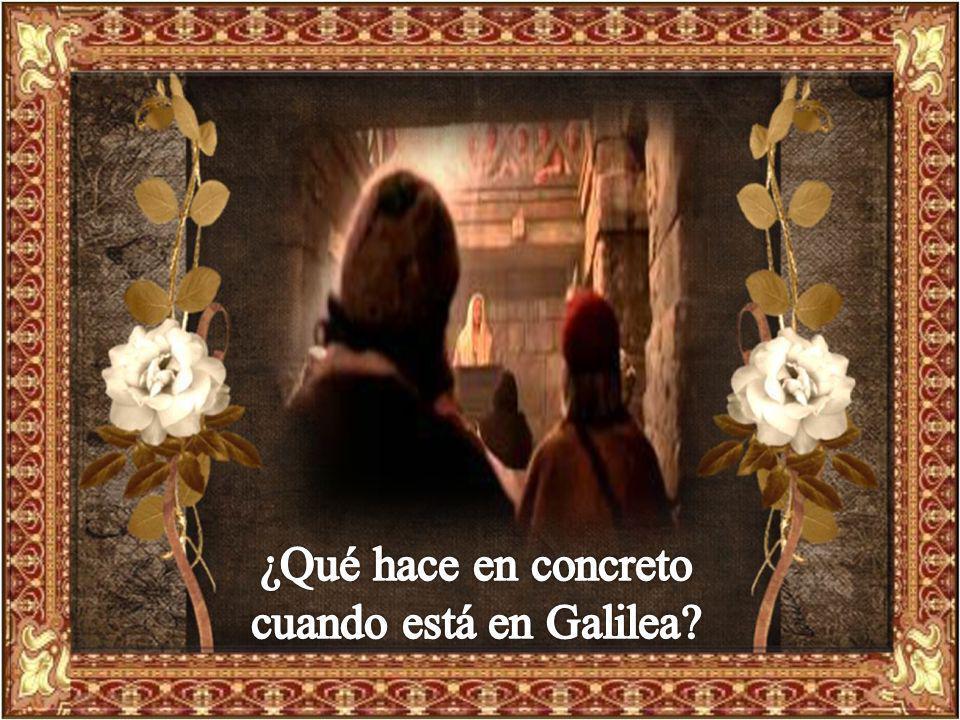 ¿Qué hace en concreto cuando está en Galilea