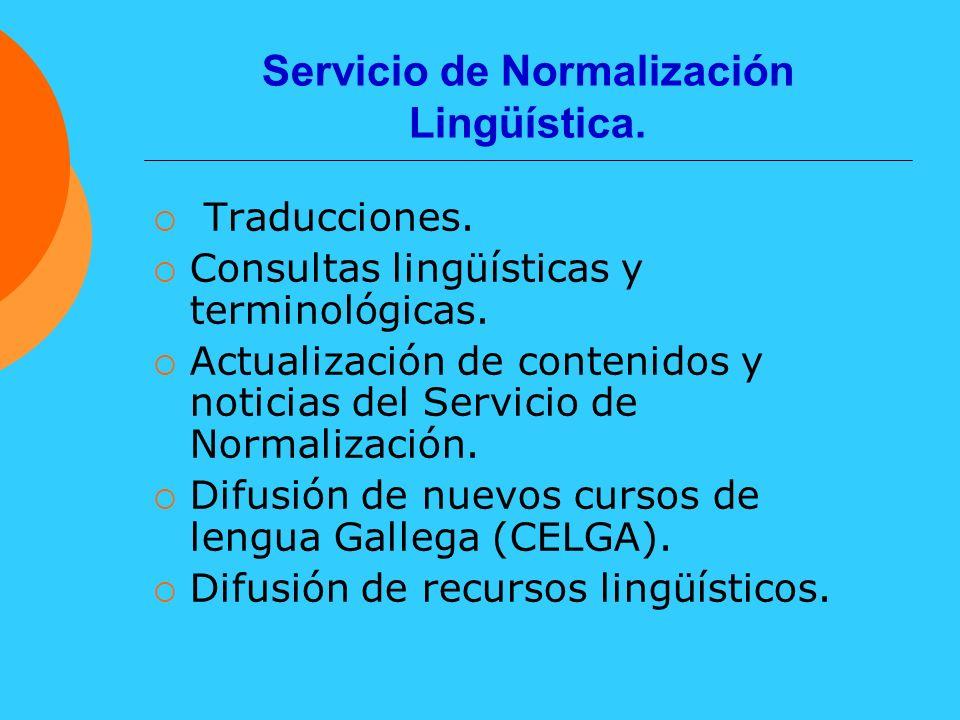 Servicio de Normalización Lingüística.