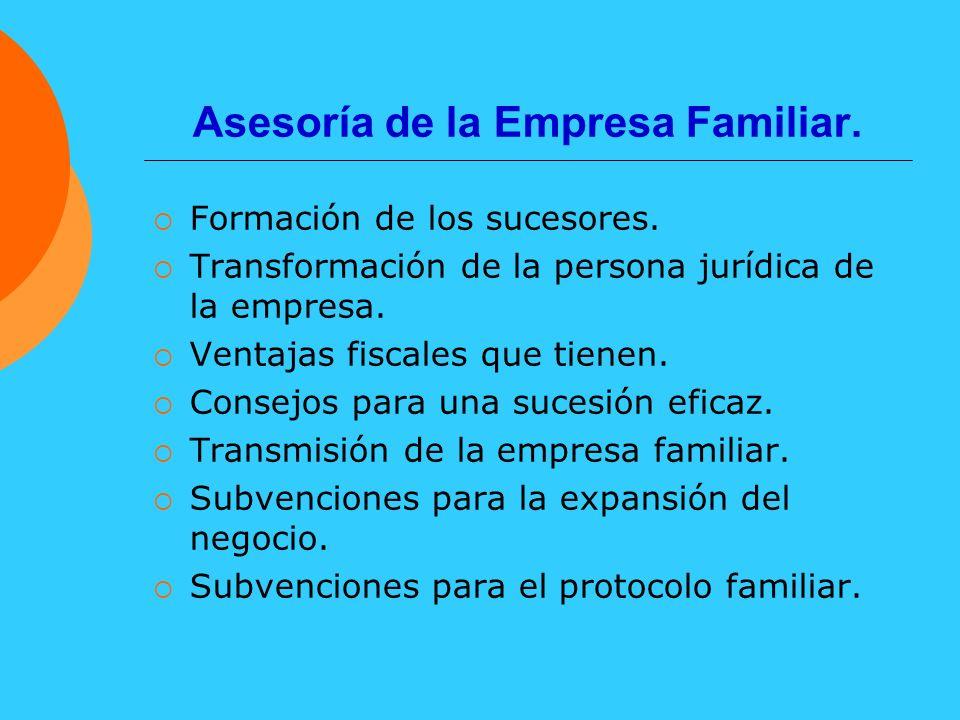 Asesoría de la Empresa Familiar.