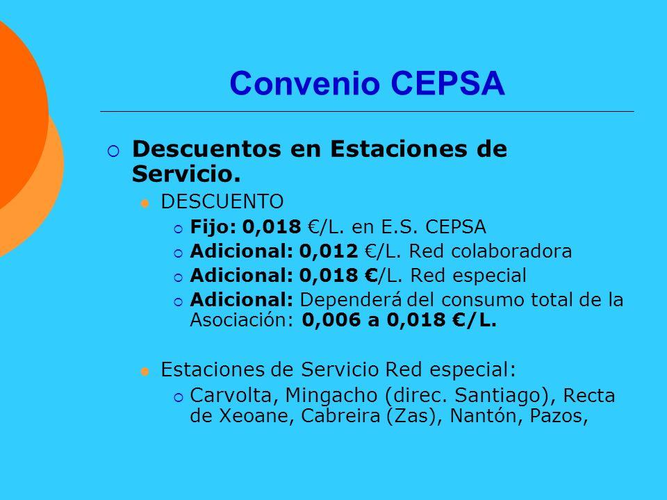 Convenio CEPSA Descuentos en Estaciones de Servicio. DESCUENTO