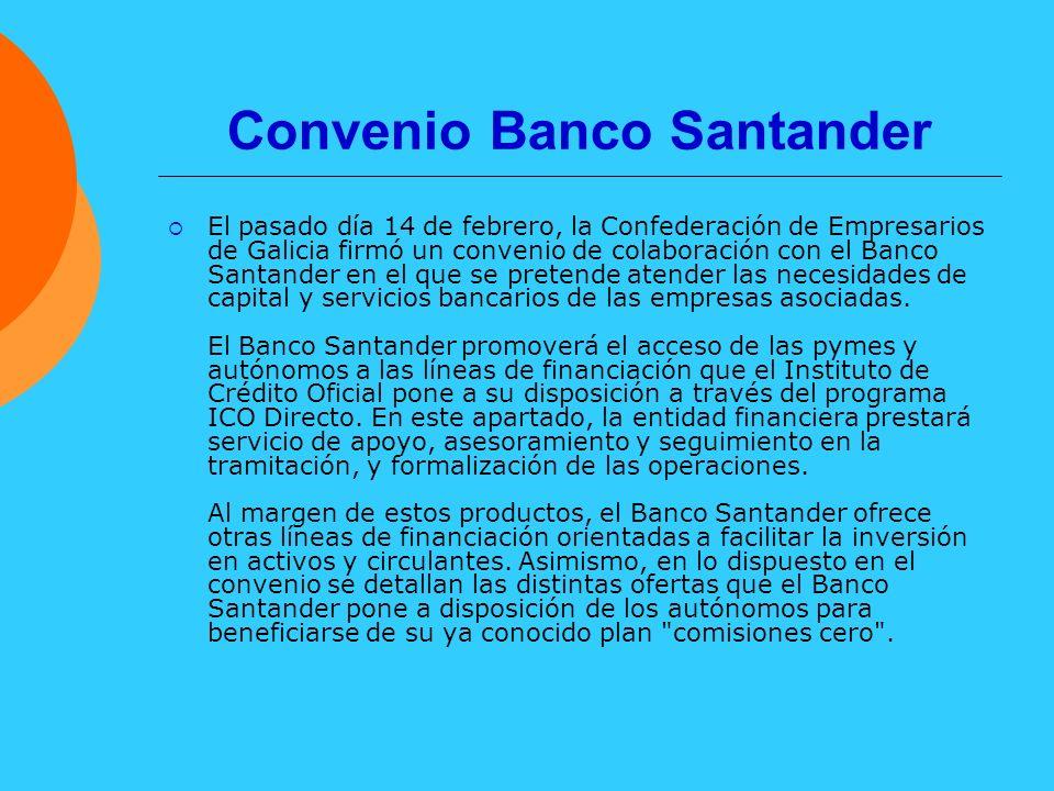Convenio Banco Santander