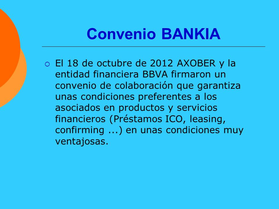 Convenio BANKIA