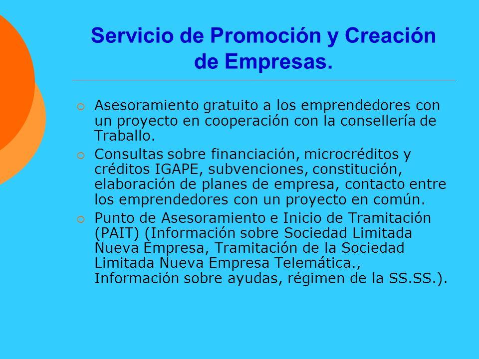 Servicio de Promoción y Creación de Empresas.