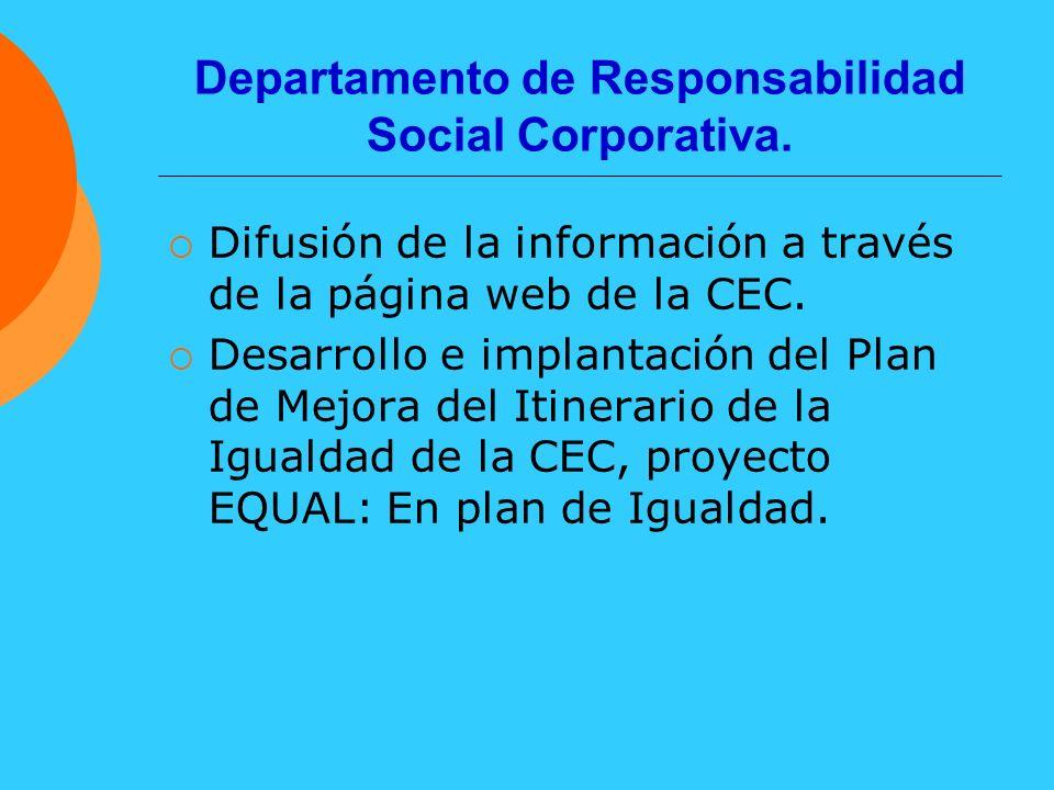 Departamento de Responsabilidad Social Corporativa.