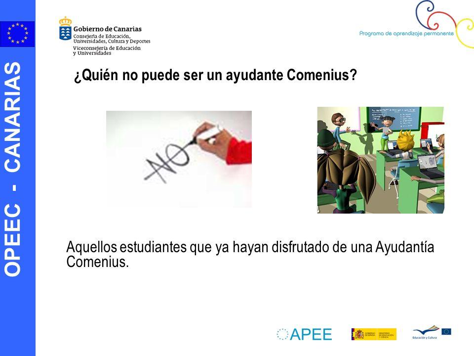 ¿Quién no puede ser un ayudante Comenius